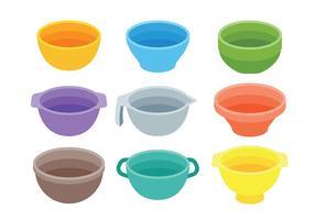 Vecteur d'icônes de bol de mélange gratuit