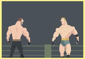 Deux lutteurs se préparent à lutter contre le vecteur