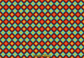 Pattern Huichol mexicain de vecteur libre