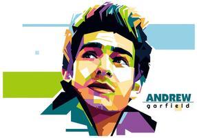 Andrew garfield - vie de Hollywood - wpap vecteur