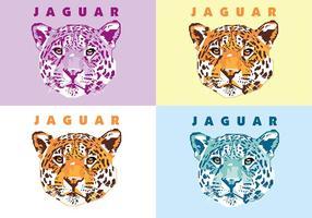 Jaguar - Vie animale - Popart Portrait vecteur