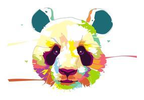 Panda - vie animale - popart portrait vecteur
