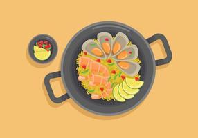Paella illustration vectorielle vecteur