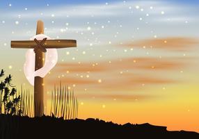 Jour de la Semaine Sainte vecteur