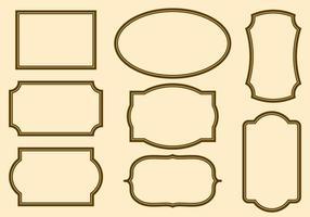 Collection vectorielle gratuite Cadre vecteur