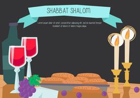 Shabbat shalom vecteur