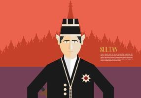 Contexte du sultan vecteur