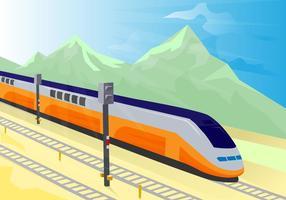 Illustration vectorielle TGV gratuite vecteur