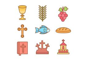 Icônes libres de la semaine sainte vecteur