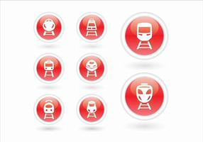 Train à grande vitesse TGV train urbain icône 3d vecteur