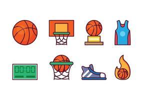 Ensemble gratuit d'icônes de basketball vecteur
