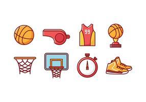 Icônes gratuites de basketball vecteur