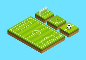 Terrain de football isométrique vecteur