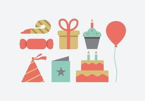 Icônes de fête d'anniversaire
