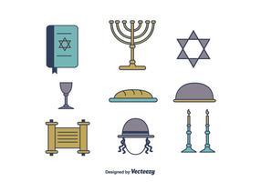 Icônes gratuites de Shabbat vecteur