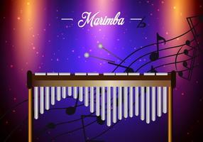 Fond d'écran du modèle Marimba vecteur