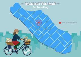 Carte de Manhattan pour le voyageur vecteur