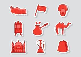 Vecteur libre d'icônes de la Turquie