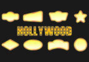 Icône des lumières hollywoodiennes vecteur
