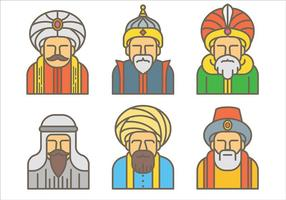 Vecteur icône libre sultan