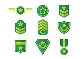Vecteur libre d'insignes de l'armée