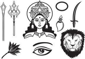 Gratuit Durga 2 Vecteurs vecteur