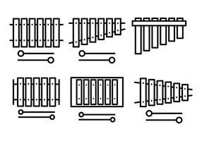 Vecteur libre d'icônes de marimba