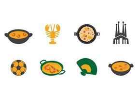 Vecteur d'icônes d'Espagne gratuit