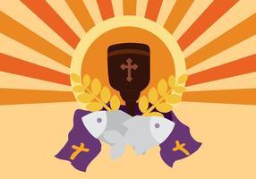Vecteur de fond gratuit de la semaine sainte