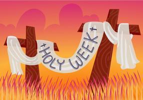 Illustration vectorielle gratuite de la Semaine Sainte