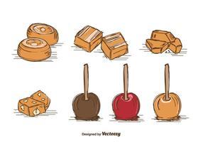 Vecteur de caramel dessiné à la main