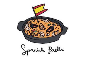 Paella doodle vecteur
