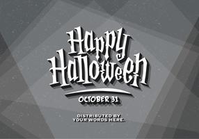 Carte de titre vintage de Halloween vecteur
