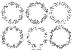 Cadres floraux mignons vecteur