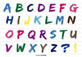 Alphabet de peinture colorée vecteur