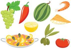 Vecteurs de cuisine espagnole gratuits