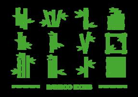 Vecteur d'icônes de bambou