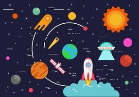Illustration du vaisseau spatial gratuit vecteur