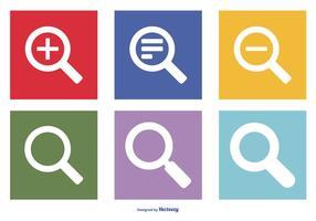 Rechercher une collection d'icônes vectorielles vecteur