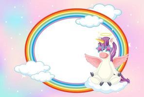 bannière vierge avec licorne en fond de ciel