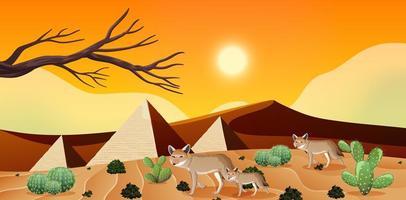 paysage désertique sauvage pendant la journée vecteur