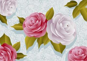 Fleurs Camellia vecteur