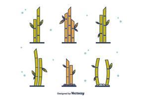 Ensemble de bambou gratuit vecteur