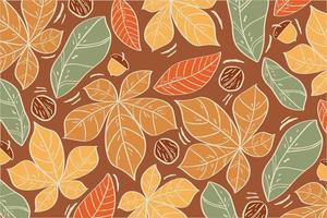 motif de feuilles d'automne coloré à la mode vecteur