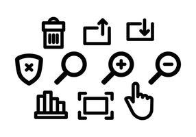 Vector d'icônes de site Web gratuit