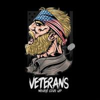 homme vétéran de l'armée américaine vecteur