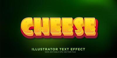 conception d'effet de texte de style fromage vecteur