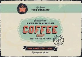 Vecteur octagon café logo