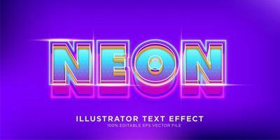 conception d'effet de texte rétro néon vecteur