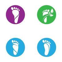ensemble de soins des pieds vecteur